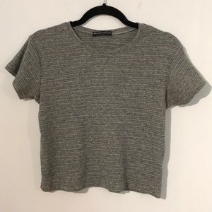 Brandy Melville heather gray top